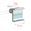 Picture of ANGLED LABEL HOLDER 4 POSITION FOR HOOK Ø6 MM for Pricer, Hanshow and Altierre