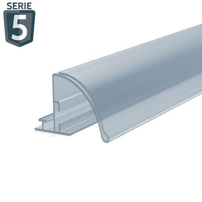 Picture of RAIL FOR DIVIDER - WITH ROUND POCKET FRONT H.32 MM - WITH ADHESIVE - Series 5