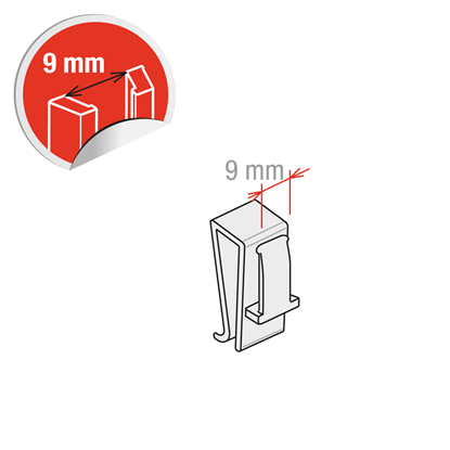 Picture of CLIP FOR VERTICAL THICKNESS FROM 1 TO 6 MM