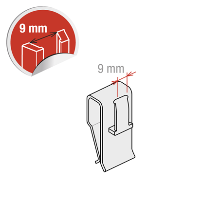 Picture of CLIP FOR VERTICAL THICKNESS FROM 1 TO 12 MM