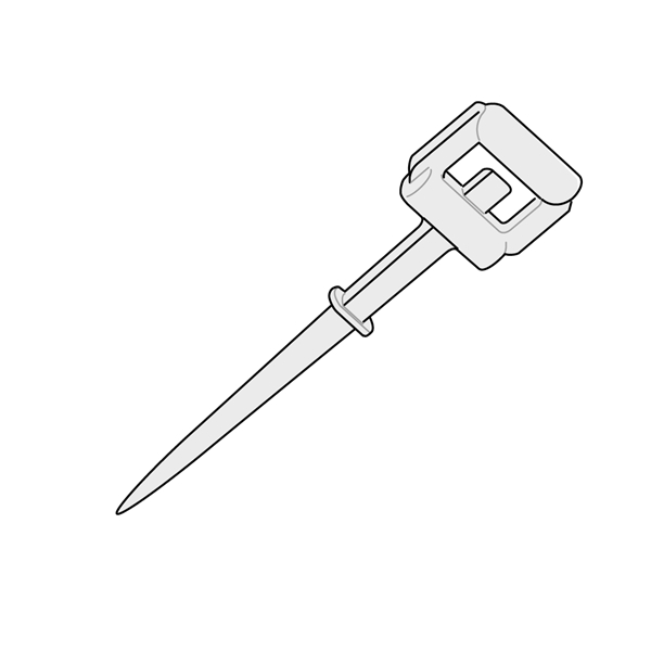 Picture of PIN WITH SINGLE POINT AND HINGE CLIP - IN PLASTIC