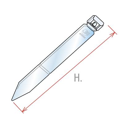 Image de TIGE ICE POINT AVEC FIXATION PIVOTANTE - H.150 MM