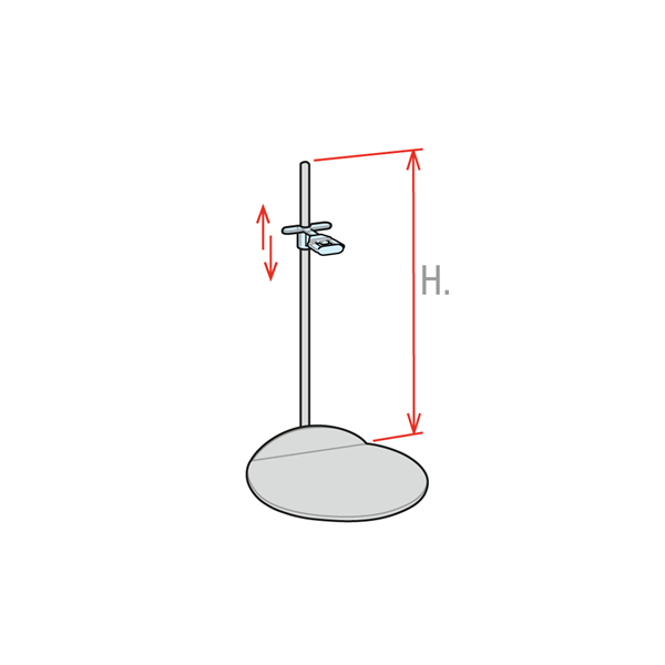 Picture of STAINLESS STEEL STAND WITH ADJUSTABLE CLIP
