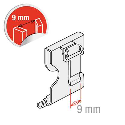 Picture of HINGED CLIP FOR DATASTRIPS H.30 TO 40 MM