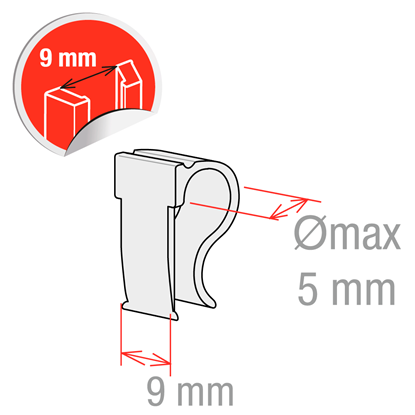 Picture of CLIP WITH GUIDE - Ø5 mm