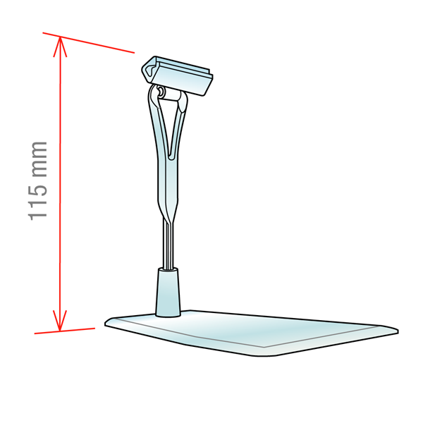Picture of STAND WITH REMOVABLE PIN AND WITH CLIP