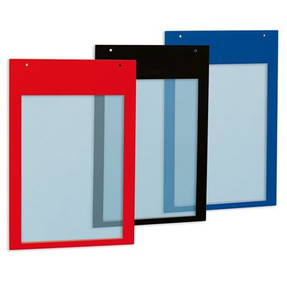 Picture of SILK-SCREEN POCKET WITH HOLES - ANTIGLARE PVC