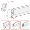 Picture of SMALL POSTER HOLDER PROFILE (SNAP-ON SYSTEM)