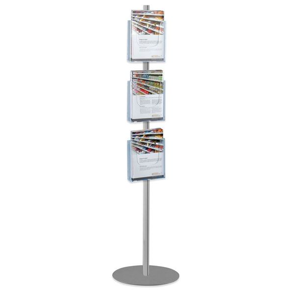 Picture of STAND WITH 3 A4 PORTRAIT BROCHURE HOLDERS - SINGLE SIDED