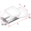 """Picture of ANGLED STRUCTURE FOR TRAYS """"KREACTIVA"""""""