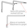 "Picture of ""MINIMAL"" COUPLE OF BRACKET FOR INCLINED LED BAR FOR TOP SHELF"