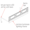 Picture of BAR FOR LIGHTING FRAME FOR INCLINED LED BARS KIT