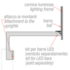 Immagine di BARRA PER CORNICE LUMINOSA PER KIT PER BARRE LED