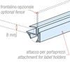 "Picture of ""MULTITASKING"" CLAMP PROFILE FOR GLASS SHELVES"